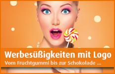 Werbesüssigkeiten mit Logo