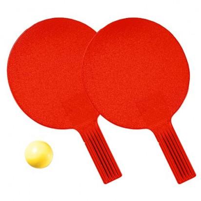 Tischtennis-Set Massiv, rot