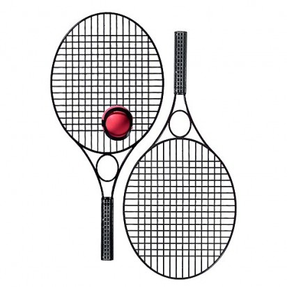 Tennis-Set Pro Black Star, schwarz
