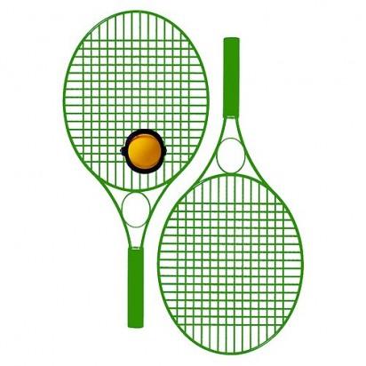 Tennis-Set Pro Colour mit Werbefeld, grün
