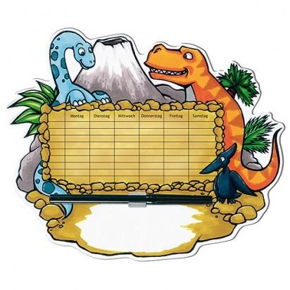 Stundenplan Dinosaurier, bunt