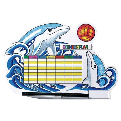 Stundenplan Delphin, bunt