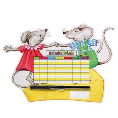 Stundenplan Mäuse, bunt