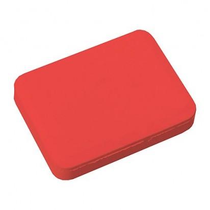 Radiergummi Rechteck, rot
