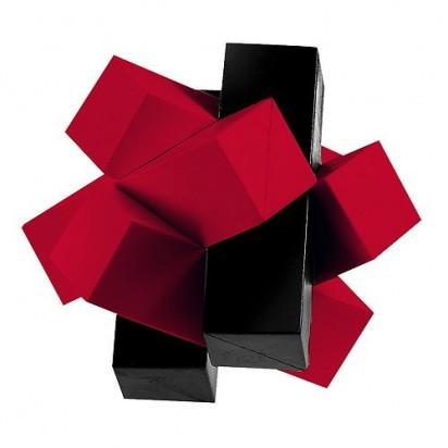 Pussycat 3D-Geduldspiel Sixbricks, rot/schwarz