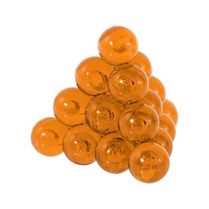 Pussycat Knobelspiel Kugel-Pyramide, transparent-orange