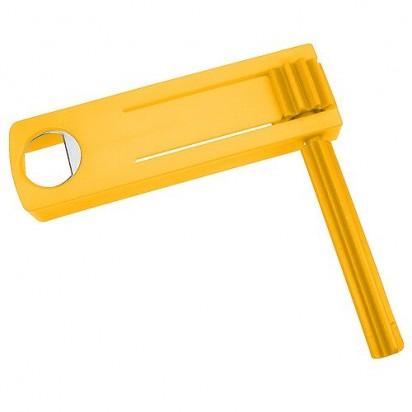 Ratsche Opener, gelb