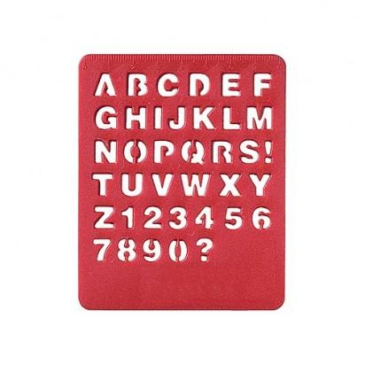 Schablone ABC, rot