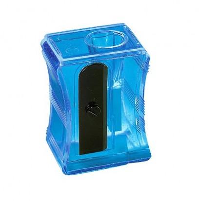 Bleistiftspitzer Maxi, transparent-blau