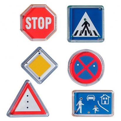 Geduldspiel-Set Verkehrszeichen, bunt