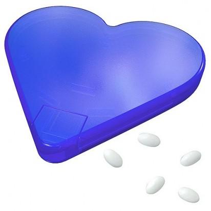 Mint-Spender Herz Vivil, neon-blau gefrostet