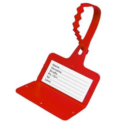 Gepäckanhänger Adress, rot
