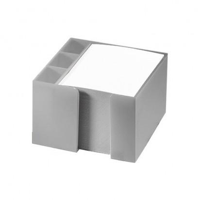 Zettelbox Stifteköcher, silber