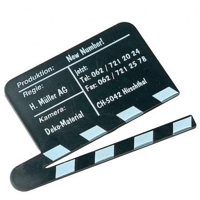 Magnet Filmklappe, schwarz
