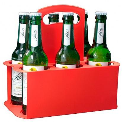 Bierflaschenträger Take 6, rot