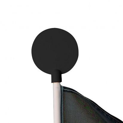 Fahnenzubehör Werbeaufsatz für Fahnenstange, schwarz