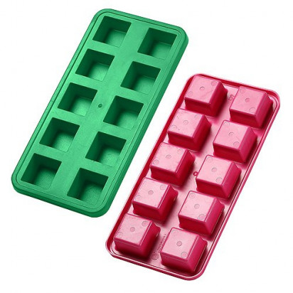 Eiswürfelform Quadrate