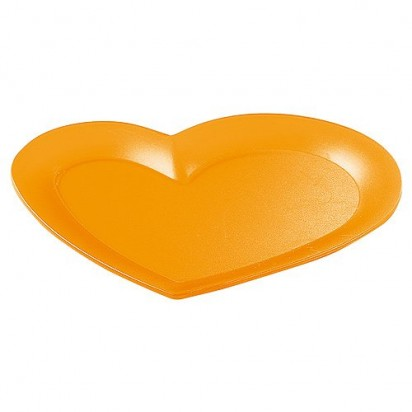 Tablett Mini-Herz, trend-orange