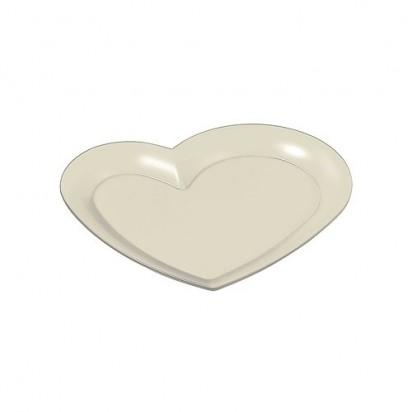 Tablett Midi-Herz, perlmutt