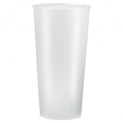 Trinkbecher Mehrweg 0,5 l, transparent-milchig