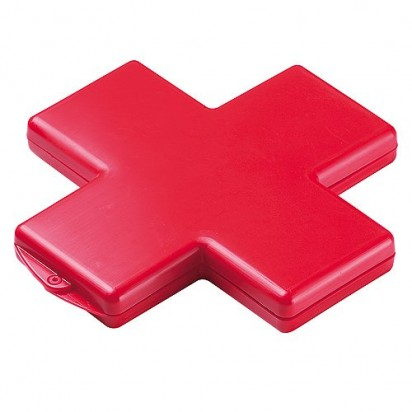 Pflasterbox Kreuz, rot