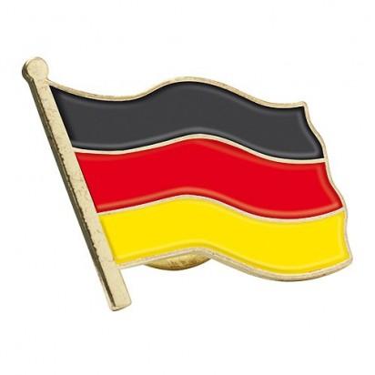 Pin Nations, schwarz/rot/gelb