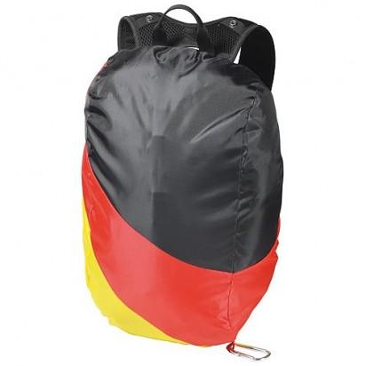 Rucksacküberzug Deutschland, schwarz/rot/gelb