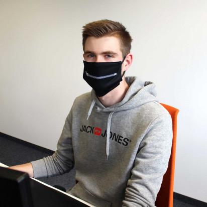 Maske Reißverschluss   3 Größen   Ab 1 Stück   kühlend