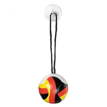 Softball Nations klein, weiß/schwarz/rot/gelb