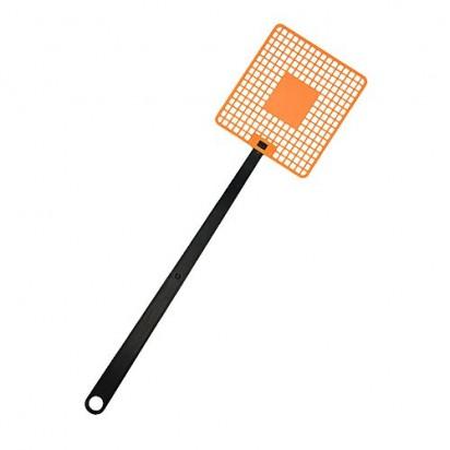 Fliegenklatsche Logo, Klatschteil trend-orange