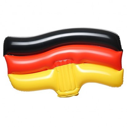 Aufblasbare Winkeflagge Deutschland, schwarz/rot/gelb