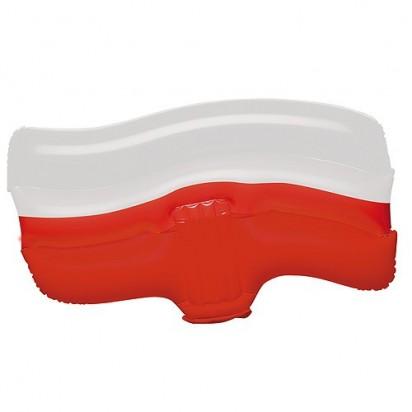 Aufblasbare Winkeflagge Polen, weiß/rot