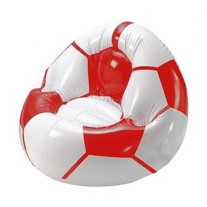 Aufblasbarer Fußballsessel Big, rot/weiß