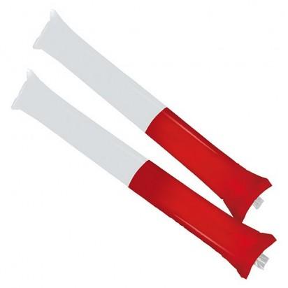 Klopfschlauch Sticks, weiß/rot