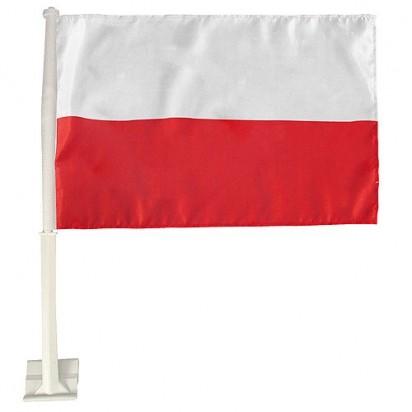 Autofahne Nations, weiß/rot, Polen