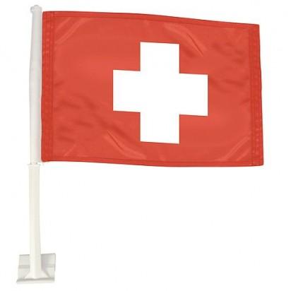 Autofahne Nations - Schweiz, rot/weiß