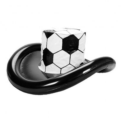 Aufblasbarer Fan-Hut Fußball, weiß/schwarz