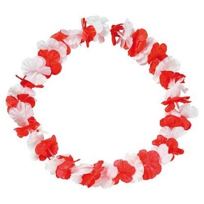 Blumenkette Laola, rot/weiß