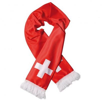 Schal Nations Schweiz, rot/weiß