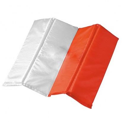 Sitzkissen Fan - Polen, weiß/rot