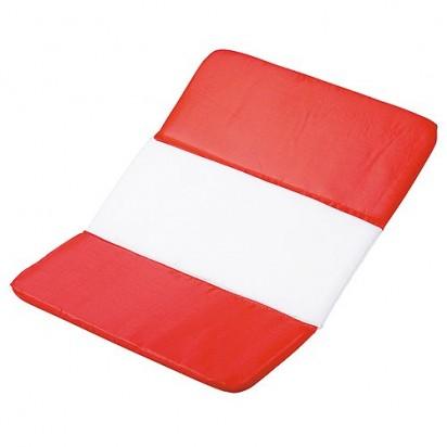 Sitzkissen Fan - Österreich, rot/weiß/rot
