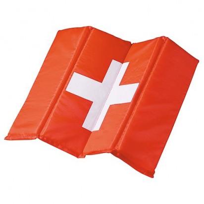 Sitzkissen Fan - Schweiz, rot/weiß