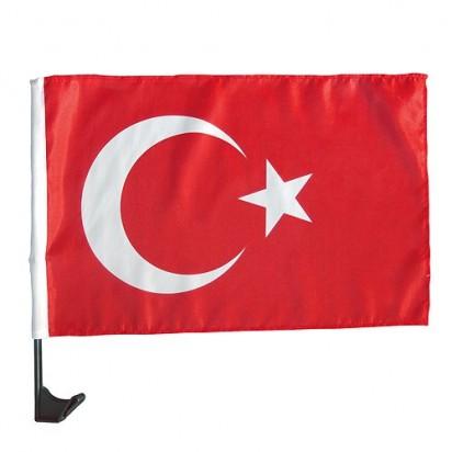 Autofahne Nations - Türkei, rot/weiß