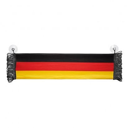 Fensterschal Deutschland, schwarz/rot/gelb