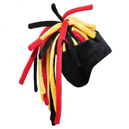 Fanhut Afro, schwarz/rot/gelb
