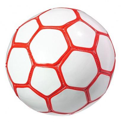 Fußball Mini Colour, weiß/rot