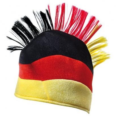 Fanhut Irokese, deutschlandfarben