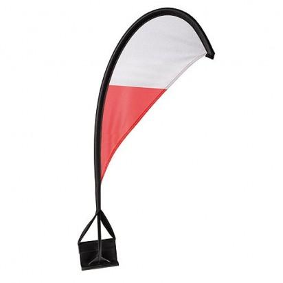 Autofahne Windsegel Polen, rot/weiß
