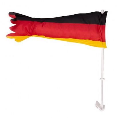 Autofahne Tube Deutschland, schwarz/rot/gelb