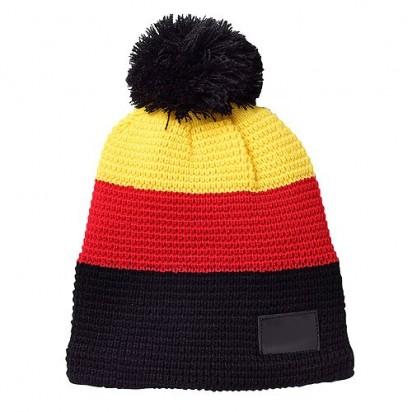 Strickmütze Germany, schwarz/rot/gelb